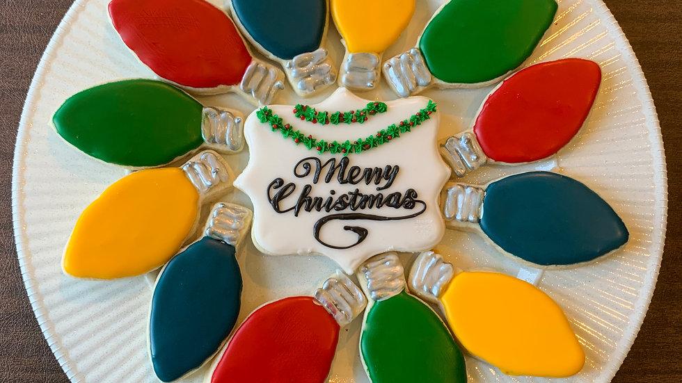 Christmas Light Cookie Platter