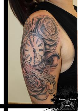 "black & grey ""clock"""