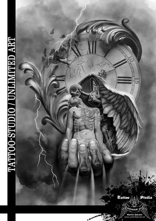 Bildbearbeitung / LOST in TIME / Tattoo Studio - unlimited art / Martin Gstrein