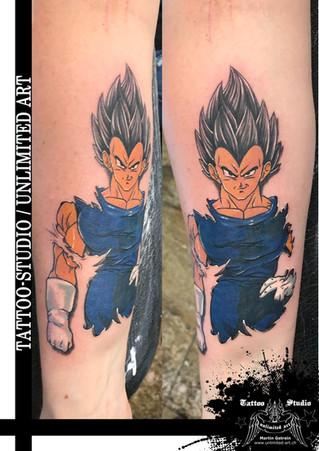 Dragon Ball Z Vegeta Tattoo / Unterarm-Tattoo // Dragon Ball Z Vegeta Tattoo / Forearm Tattoo