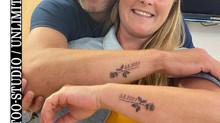 Rose mit Datum Partner Tattoo / Rose With Date Partner Tattoo 2