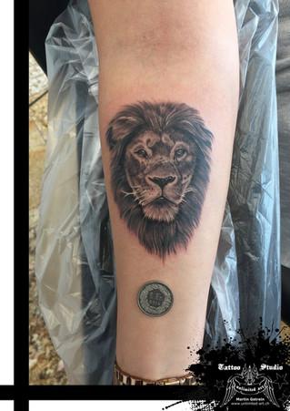 Löwenkopf Realistisch Tattoo // Lion Head Realistic Tattoo