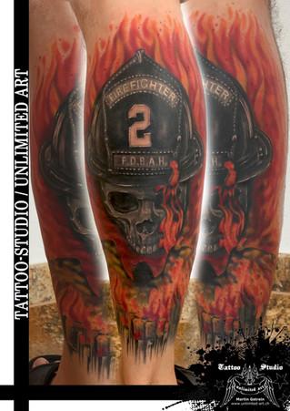 Feuerwehr Tattoo / Fire Department Tattoo / Fire Fighter Tattoo