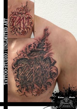 Black & Grey Tattoo / Realistik Tattoo / Runen Tattoo / Runes Tattoo