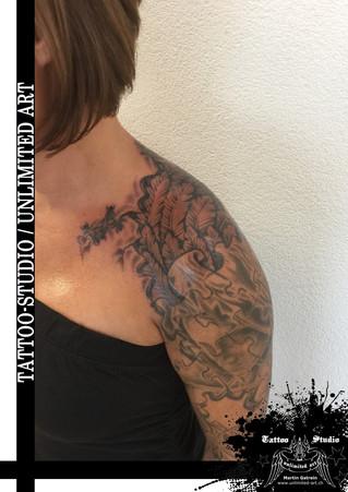 Engelsflügel unter der Haut Tattoo / Angel Wings Under The Skin Tattoo