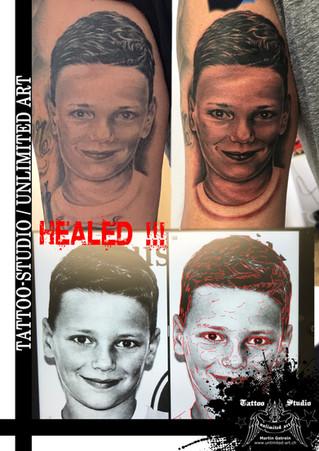 Portrait Tattoo / Black and Grey Tattoo