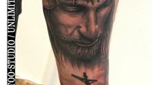 IN ARBEIT / Realistischer Jesuskopf Unterarm Tattoo // IN Progress / Realistic Jesus Head Tattoo
