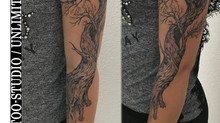 1 Fantasie Arm Mädchen Tattoo / Realistisches Tattoo // Fantasy Sleeve  Girly Tattoo