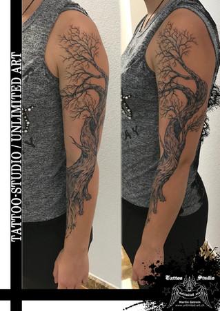 1 Fantasie Arm Mädchen Tattoo / Realistisches Tattoo // Fantasy Sleeve  Girly Tattoo