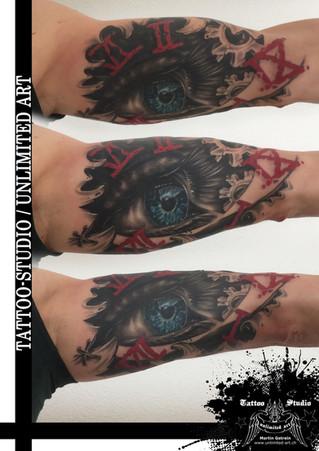 Realistisches Auge Tattoo  / Realistic Eye Tattoo
