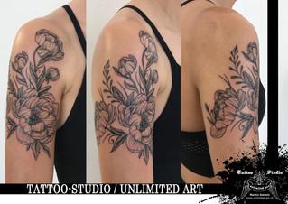 Pfingstrosen Tattoo / Peonies Tattoo