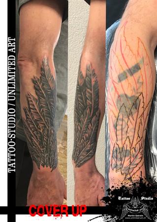 Cover Up/Überarbeitung mit Engelsflügel Tattoo/Engelsflügel Tattoo/CoverUp Tattoo/Angel Wings Tattoo