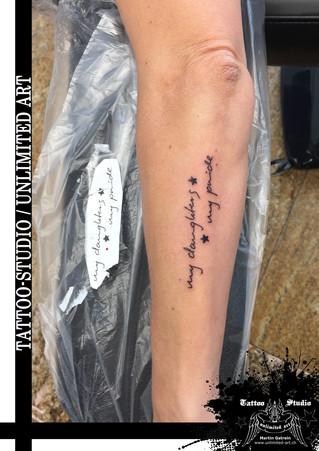 Schrift Tattoo / Font Tattoo