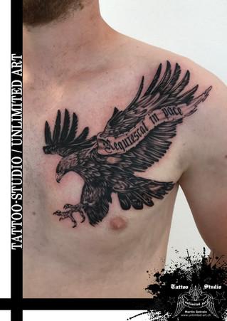 Adler R.I.P. Tattoo / Eagle R.I.P. Tattoo
