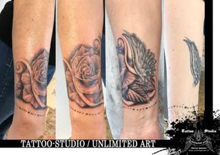 Tattoo - Erweiterung / Rose Tattoo / Realistische Rose Tattoo