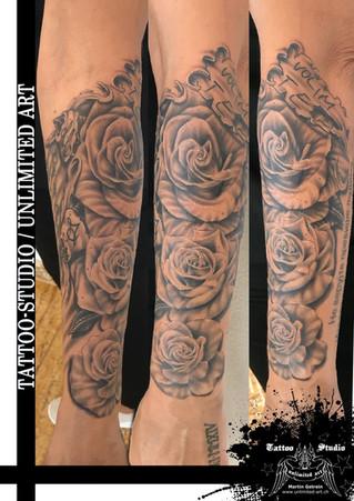 Realistische Rosen Tattoo / Unterarm-Tattoo // Realistic Rose Tattoo / Forearm Tattoo