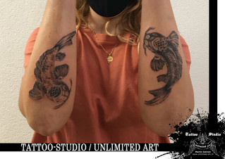 YIN & YANG Fisch Unterarm Tattoo / YIN & YANG Fish Forearm Tattoo