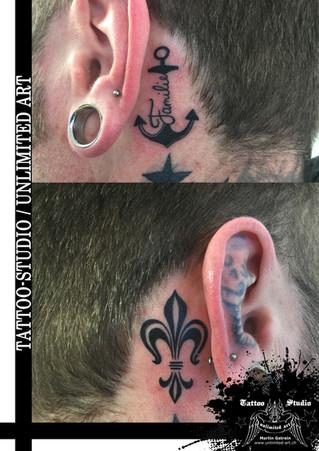 Anker Familie Tattoo / Französische Liele Tattoo // Anchor Family Tattoo / French Lily Tattoo