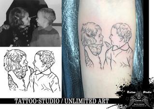 Bruder mit Schwester Tattoo / Mädchen Tattoo / Brother With Sister Tattoo / Girly Tattoo