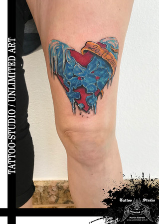Auftauendes Herz Tattoo / Thawing Heart Tattoo