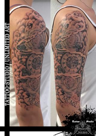 Andenken an Oma & Opa realistik Tattoo / Keepsake Of Grandma & Grandpa Realistic Tattoo 1