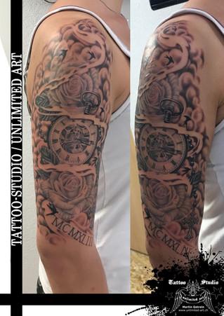 Andenken an Oma & Opa realistik Tattoo / Keepsake Of Grandma & Grandpa Realistic Tattoo 2