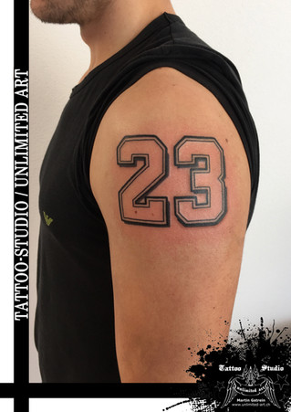 23 Tattoo / Zahl Tattoo