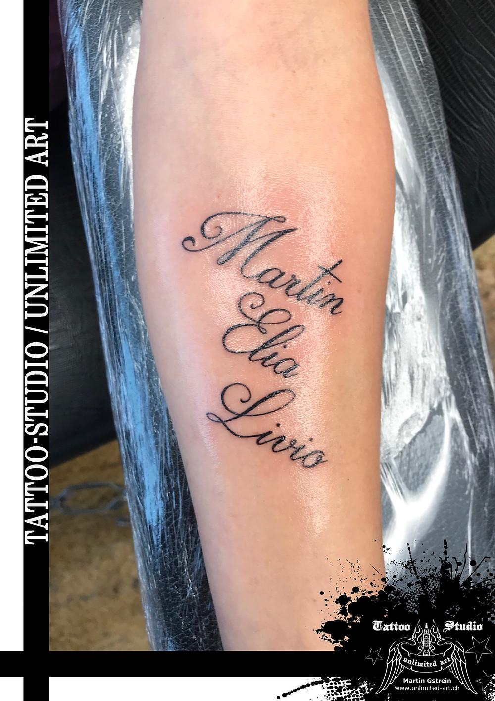 Tattoovorlagen schriftzüge unterarm