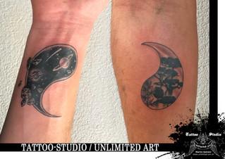 Freundschaftstattoo / Yin & Yang Tattoo / Friendship Tattoo
