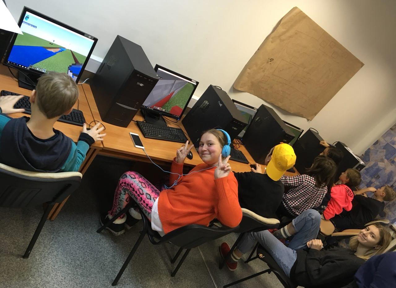 Занятие в компьютерном классе