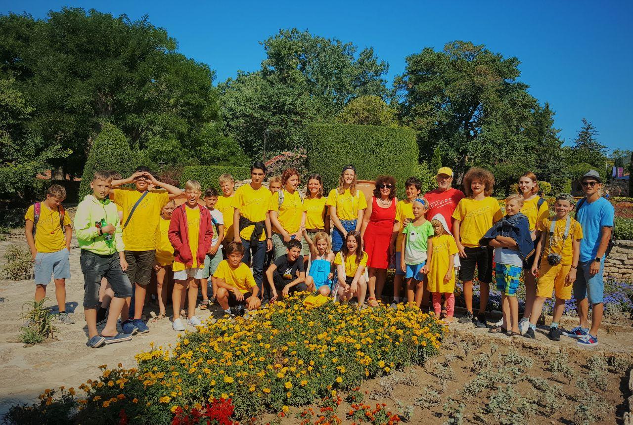 В Парке Дворца румынской королевы