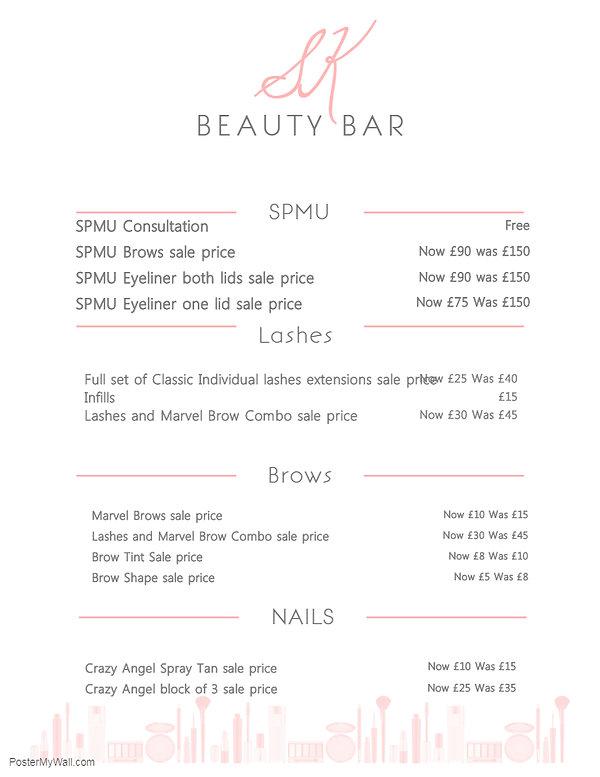 Copy of Elegant Beauty Price List Flyer