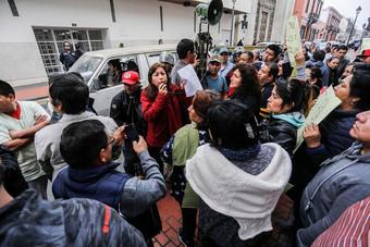 Gamarra: Comerciantes realizan plantón frente al MEF