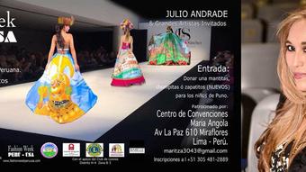 La gran labor social de la diseñadora peruana Maritza Guevara en el Fashion Week Perú- USA 2018