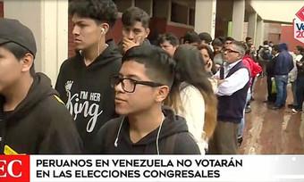 Elecciones 2020: Peruanos en Venezuela no votarán