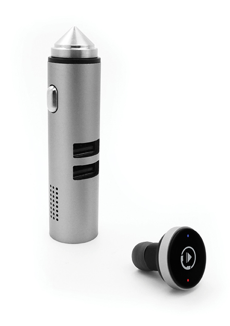 BrandCharger Talky stnading with earpiece