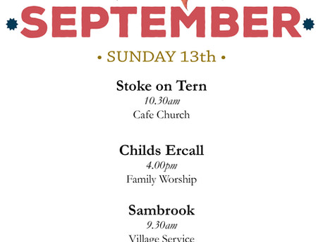September 13th Services