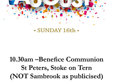 Sunday 16th August