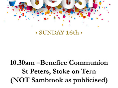 Sunday 16th August