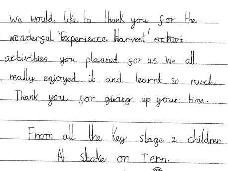 Stoke On Tern School 'Experiences Harvest'