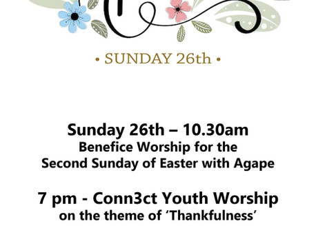Sunday 26th April