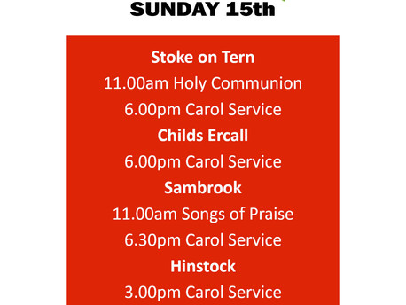 15th December services