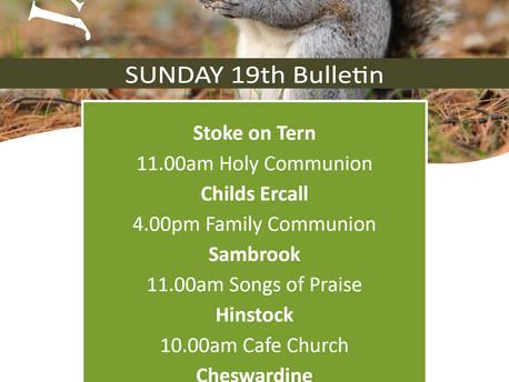 Services Sunday 19th January