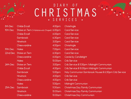 Christmas Services: