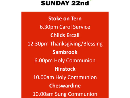 Services this Sunday