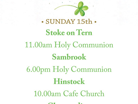 15th March Services