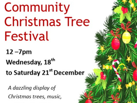 Stoke On Tern: Visit The Community Christmas Tree Festival at St Peter's