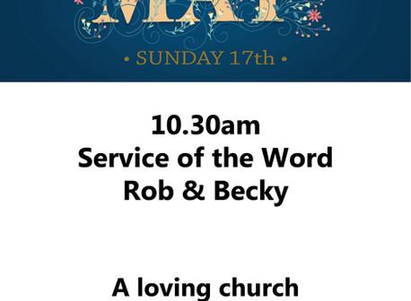This Sunday, May 17th