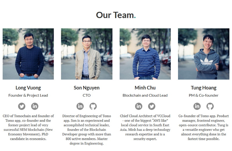 tomocoin team members