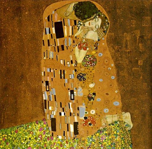 """""""El beso"""" de Klimt."""